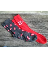 Coca-Cola 2-pack of Crew Socks Gray Scattered Can and Red with Coke Wave... - $7.67