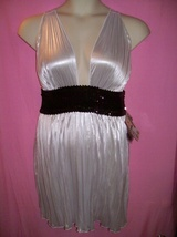 Dreamgirl Lingerie Sexy Pleated Metallic Cire 3... - $24.95