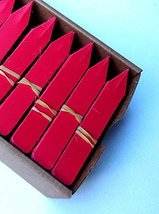 """100 Red Plastic Plant Stakes Labels Nursery Tags Made in USA - 4"""" X 5/8"""" - $13.86"""
