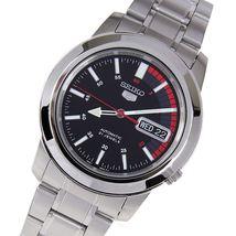 Seiko 5 SNKK31K1 Seiko 5 Automatic men's watch black red dial stainless steel - $119.00
