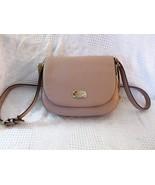 MICHAEL KORS Bedford Leather Saddle Shoulder Bag Blush Pink $248 NWT - $110.69