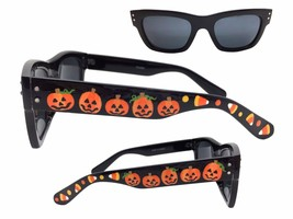 Women's Halloween Sunglasses with Hand Painted Pumpkins, Candy Corn, Pol... - £17.92 GBP