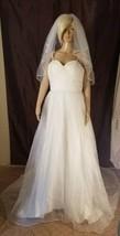 Simply Classic Elegant Wedding Gown size Medium ivory  - $188.10