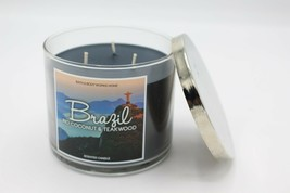 Bath & Body Works Brazil Rio Coconut & Teakwood Large 3 Wick Jar Candle ... - $33.99