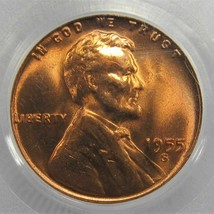 1955-S Lincoln Wheat Cent PCGS MS66 RD Libierty Variety AD534 - $61.83