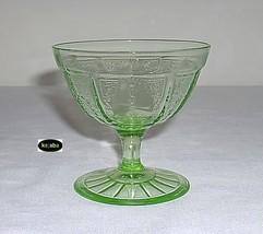Princess Green Sherbet Ray Footed Hocking - $12.95