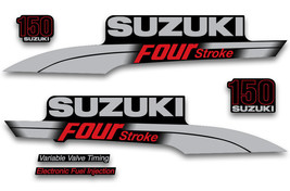 Outboard Engine Sticker Suzuki 150hp FourStroke Marine Decal Kit For Boat Motor - $74.20