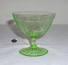 Princess Green Sherbet Block Rayed Footed Hocking - $12.95