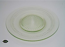"""Roulette Green Plate 8 1/2"""" Luncheon Hocking - $6.50"""
