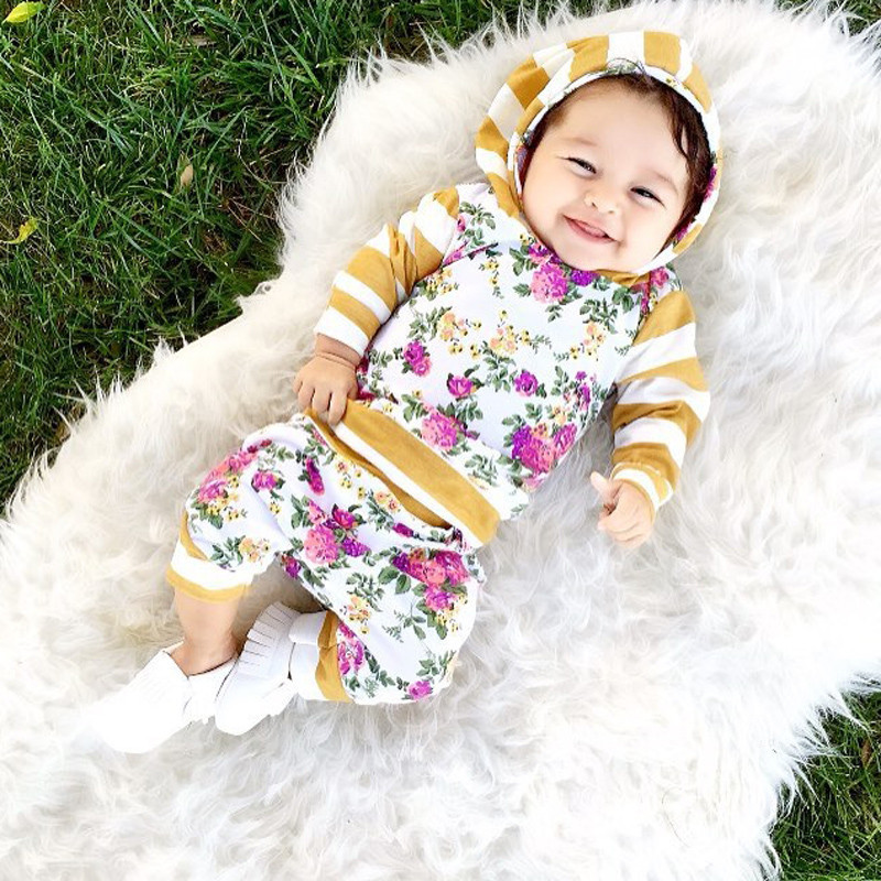 pudcoco 0 2T kid autumn New baby GIRL clothes Kids Baby Girls Long Sleeve Hooded - $12.99