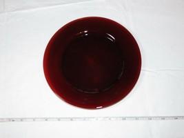 "Vintage Ruby Red Salad plate 8"" 1 plate Luncheon bread dessert Depressio... - $16.03"