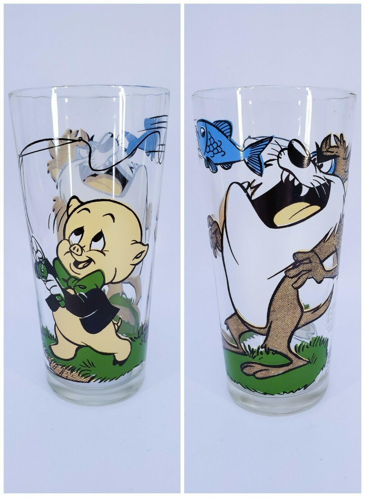 ORIGINAL Vintage 1976 Pepsi Tasmanian Devil Taz Porky Pig Drinking Glass - $34.64