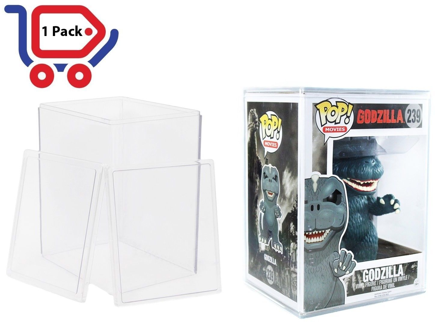 Funko Pop Acid-free Hard Plastic Protector Case - Fits 6-inch Pop Figures