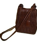 Retro Vintage Nine West Brown Leather Basket We... - $16.99