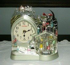 Teltime PRINCESS CINDERELLA CLOCK With Spinning Dancers Carriage Castle ... - $24.95