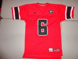 NCAA Red Georgia Bulldogs SEWN Colosseum NCAA  Football Jersey Adult S Excellent - $29.69