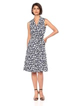 Anne Klein Women's Cotton Notch-Collar Wrap-Front Dress - $94.42+