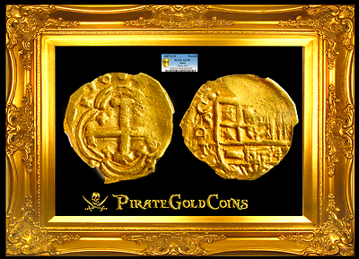 "Primary image for SPAIN 1687 ""FULLY DATED!"" 1 ESCUDO PCGS 58 GOLD COB DOUBLOON COIN"