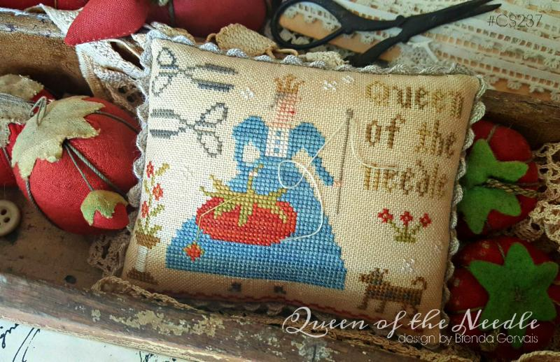 Queen of the Needle cross stitch chart  With Thy Needle Brenda Gervais
