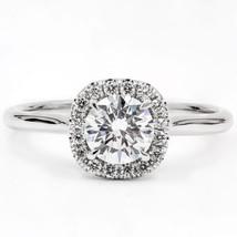1.00CT Round Forever One Moissanite Diamond Ring 14K White Gold - $930.03