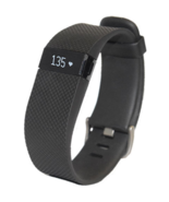 Fitbit Charge HR Wireless Activity Wristband Black Small Fitness Tracker - $28.49