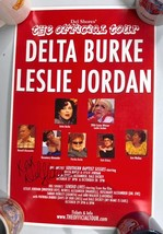 "Del Shores SIGNED Delta Burke Tour Baptist Sissies Poster 11 x 17"" Lobby... - $31.51"
