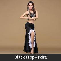 9 Colors Professional Belly Dancer Sequin Beaded Outfits Bra Belt Skirt image 5
