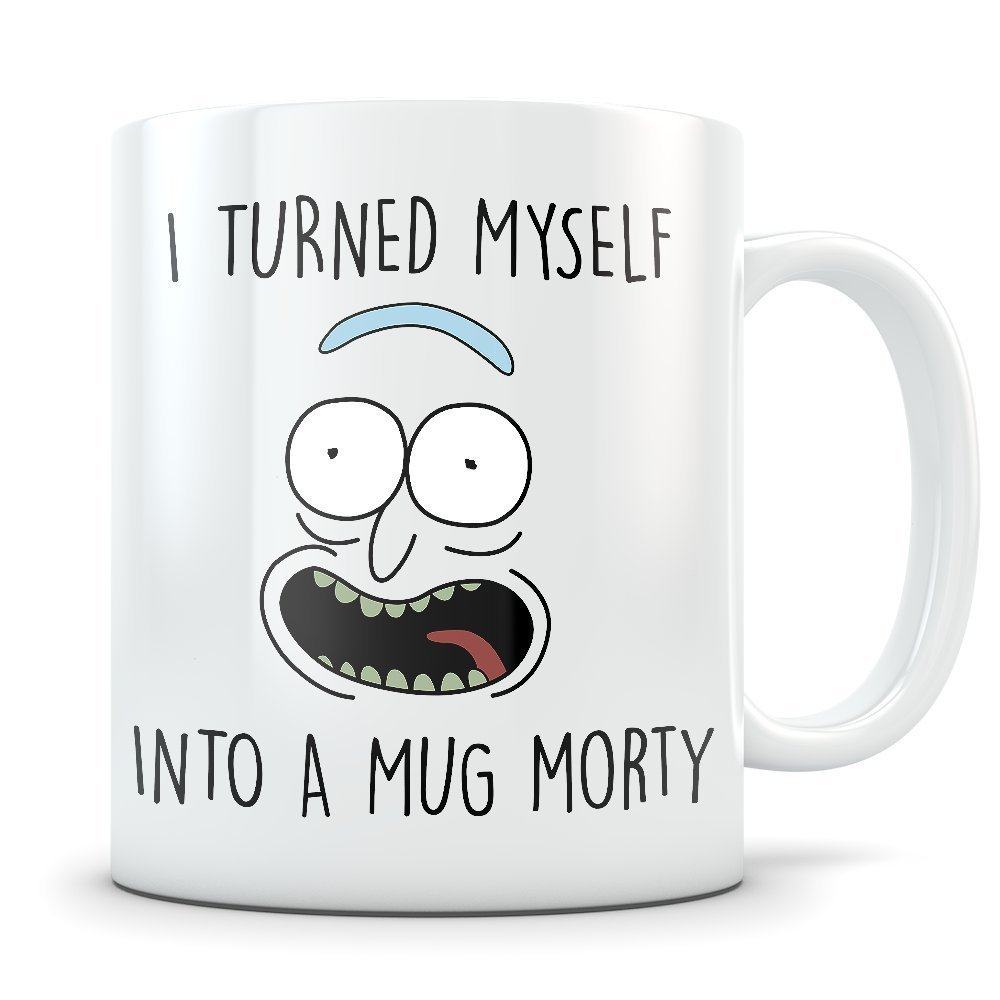 Funny Rick Sanchez 11oz Coffee Cup - Great Gift for Rick and Morty Fans - $13.95