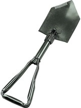 Tri-Fold Heavy Duty Steel Shovel Olive Drab Hand Intrenching Tool Travel... - $25.17 CAD