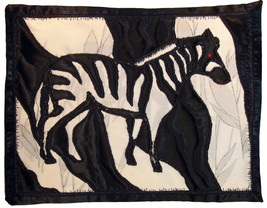Zebra: Quilted Art Wall Hanging - $65.00