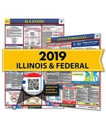 2019 Illinois State & Federal Labor Law Posters for Workplace Compliance - $32.04