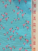Pink Flamingos - Timeless Treasure Fabric - beach, water - Half Yard - $5.99