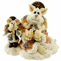Boyds Bears Purrstone Resin Cat Figurine Felicia Angelpuss & George Reti... - $22.49