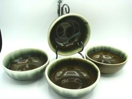 4 FOUR Vintage VTG Pfaltzgraff Green Drip Cereal Soup bowls Excellent L@@K! NICE - $11.97