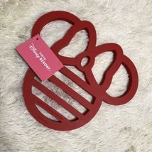 Tokyo Disney Land Minnie mouse ribbon hot pot coaster red TDR - $42.57