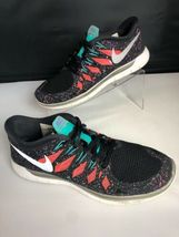 NIKE FREE 5.0 Running Gym Fitness Shoes Black Hyper Jade Galaxy Womens Size 8.5 image 10