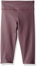 NWT $44 Kids Girls Onzie Yoga Capri Pant Legging in Purple Fishnet sz 14 / 16 - $16.63