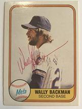 Wally Backman Signed Autographed 1981 Fleer Baseball Card - New York Mets - $7.91