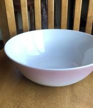 Lenox Domino Optique Ombré Serving Bowl 76oz White Soft Pink NWT - $49.50