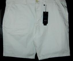 Armani Exchange Authentic Beige Moonbeam Cotton Shorts Size Us 40 Eu 56 New - $58.99