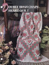 Double Irish Chain Heart Quilt, Annie's Crochet Pattern Leaflet 2218-1-0... - $18.95