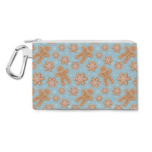 Winter Gingerbread Cookies Canvas Zip Pouch - $15.99+