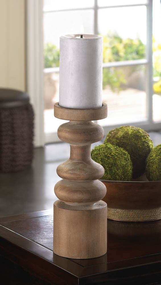Decorative Pillar Candle Holder, Decorative Rustic Wooden Pillar Candle Holders