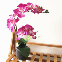 Artificial Simulation Silk Flower Butterfly Orchid Bonsai Fake Plants Ce... - $12.32