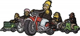 The Simpsons Springfield Choppers Riding Their Hogs Embroidered Patch NE... - $7.84