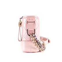 BRAND NEW AUTH Chanel 2019 IRIDESCENT CALFSKIN Pink Small Gabrielle Hobo Bag   image 5