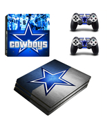 PS4 Pro Console Dualshock Skin NFL Dallas Cowboys Vinyl Decal Sticker Wr... - $12.00