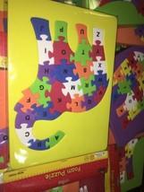 GenuineVintage Kingsbridge Foam Puzzle Uppercase Alphabet Elephant; Colo... - $10.39
