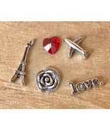 Floating Charms Paris Eiffel Tower fit Origami Glass Memory Floating Loc... - $6.08
