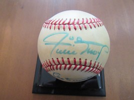 Willie Mays Leo Durocher 1954 Giants Hof Signed Auto Vintage Gu'ed Baseball Jsa - $395.99